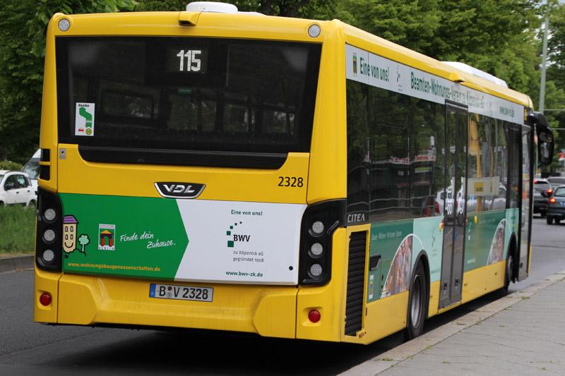 In welche Richtung fährt der Bus vom BWV zu Köpenick