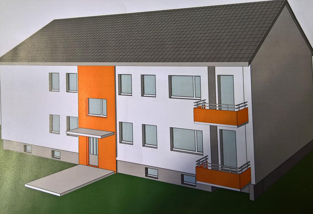 Farb-Variante jeweils mit der Farbe des Hausaufgangs